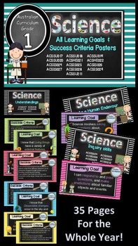 Grade 1 Science Complete set Learning Goals & Success Crit