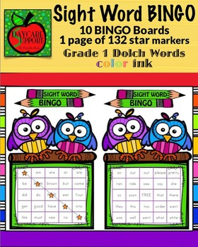 Grade 1 Sight Word BINGO color ink (Daycare Support by Pri