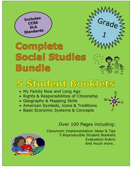 Grade 1 Social Studies Bundle:Family,Citizenship,Mapping,E