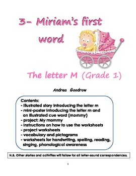Grade 1 literacy: 3- Miriam's first word (the letter M)