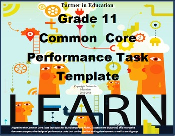 Grade 11: Common Core/PARCC Paired Text Performance Task Template
