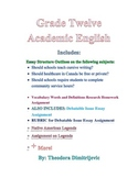 Grade 12 Academic English Package (Includes 2 exams)