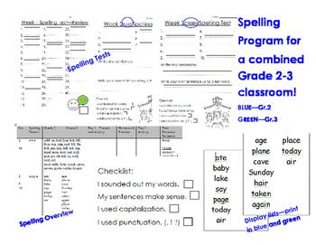 Grade 2-3 Spelling Program
