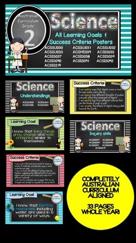 Grade 2 All SCIENCE Learning Goals/success criteria poster