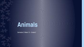 Grade 2 Base Animal Review lesson