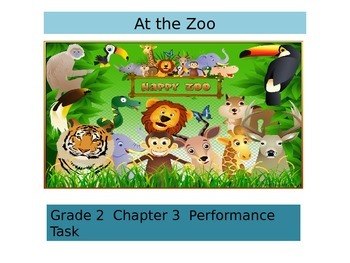 """2nd Grade   Chapter 3 Math Performance task """"The zoo"""""""