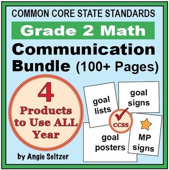Grade 2 Common Core Math Communication Bundle (Posters, Go
