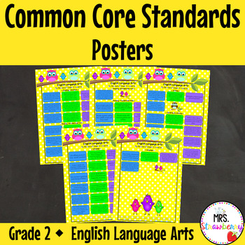 Grade 2 Common Core Standards Posters {English Language Ar