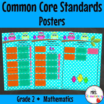 Grade 2 Common Core Standards Posters {Mathematics} Owl Theme