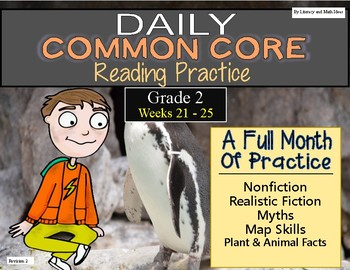 Grade 2 Daily Common Core Reading Practice Weeks 21-25 {LMI}