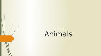 Grade 2 ESL Animals