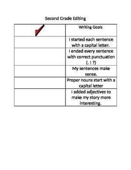 Grade 2 Editing Check List