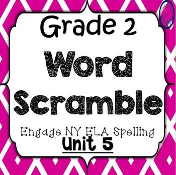 Grade 2 Engage NY Skills Unit 5 Spelling Word Scramble