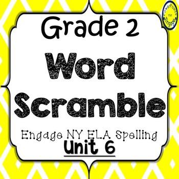 Grade 2 Engage NY Skills Unit 6 Spelling Word Scramble
