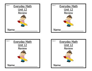 Grade 2 Everyday Math Unit 12 Review