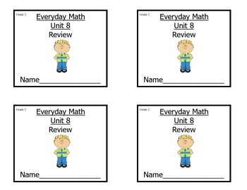 Grade 2 Everyday Math Unit 8 Review/Study Guide
