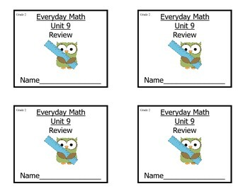 Grade 2 Everyday Math Unit 9 Review/Study Guide