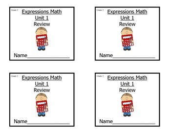 Grade 2 Expressions Math Unit 1 Review/Study Guide