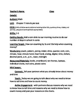 Grade 2 GoMath Chapter 7 lesson plans