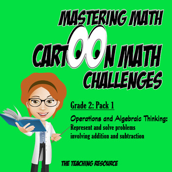 Grade 2 Mastering Math Cartoon Video Challenges: Word Problems