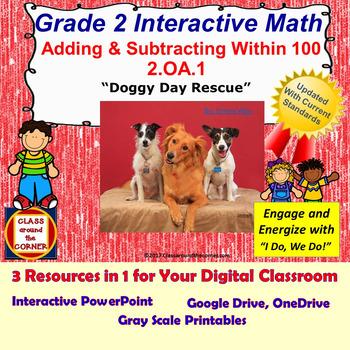 2.OA.1 Grade 2 Math Interactive Test Prep—Adding & Subtrac
