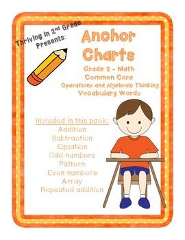 Grade 2 Math (Operations and Algebraic Thinking )Anchor Charts