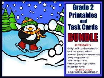 2nd Grade Winter Math Bundle