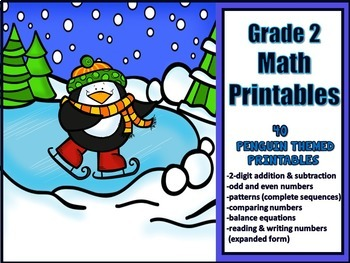 2nd Grade Math Printables - Winter