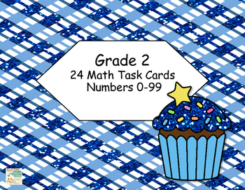 Grade 2 -Math Task Cards-Numbers 0-99 -Choose the larger Number