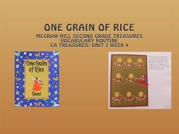 Grade 2: Mc Graw Hill Ca Treasures: One Grain of Rice Voca