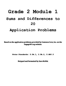 Grade 2 Module 1 Application Problems