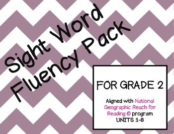 Grade 2 Reach for Reading Sight Word Fluency Bundle Units 1-8