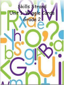 Grade 2 Skills Strand Unit 4 Wiggle Card Spinner