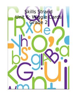 Grade 2 Skills Strand Unit 6 Wiggle Card Spinner