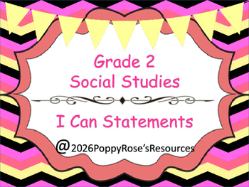 Grade 2 Social Studies I Can Statements
