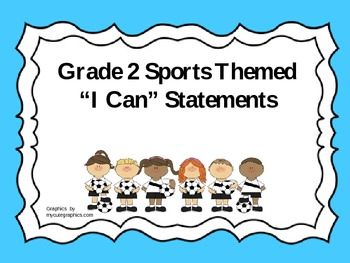 """Grade 2 Sports Themed """"I Can"""" Statements"""