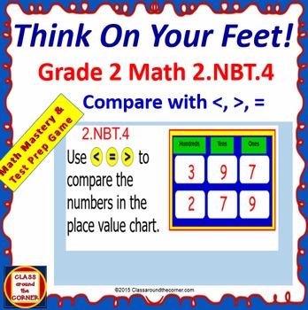 Grade 2 THINK ON YOUR FEET MATH! 2.NBT.4 Interactive Test