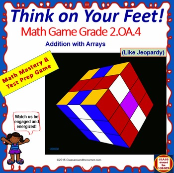 Grade 2 THINK ON YOUR FEET MATH! INTERACTIVE GAME — Additi