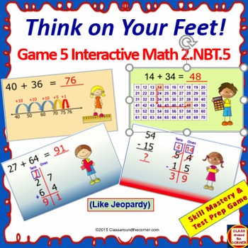 Grade 2 THINK ON YOUR FEET MATH Interactive Test Prep Game