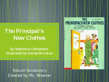 Grade 2 Text Talk Vocabulary PowerPoint_ The Principal's N