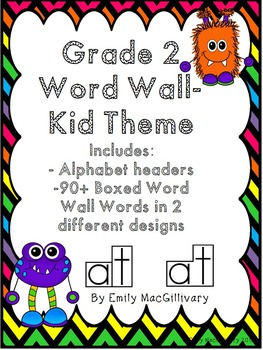 Grade 2 Word Wall: Monster Theme (Over 90 Words)