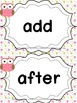Grade 2 Word Wall Words - Owl Themed