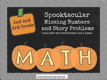 Grade 2 and 3 Common Core Math- Halloween