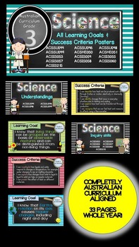 Grade 3 All SCIENCE Learning Goals/success criteria poster