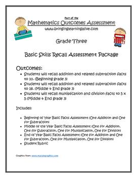 Grade 3 - Basic Facts Progression Assessment