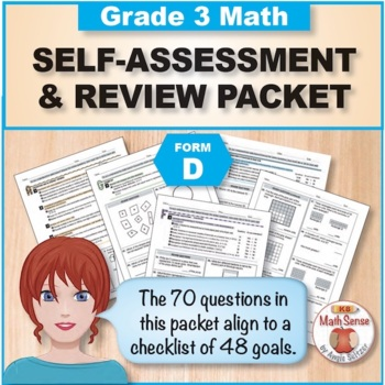 Grade 3 CCSS Math Self-Assessment and Review Packet ~ Form D