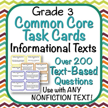 Task Cards - EDITABLE Text-Based Questions for ANY NONFICT