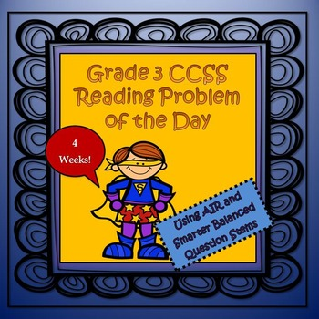 Grade 3 CCSS Reading Problem of the Day Test Prep Booklet