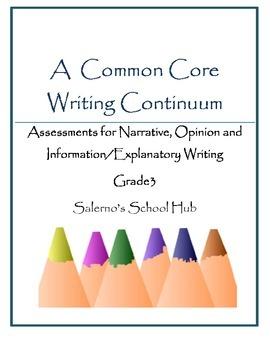 Grade 3 CCSS Writing Continuum