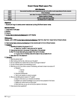 Grade 3 College and Career Lesson Plan